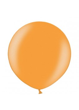 "Metallic Juicy Orange Balloons - 24"" Latex"