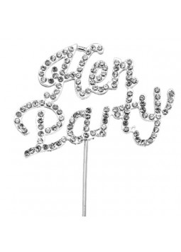 'Hen Party' Diamante Cake Pick - 6cm
