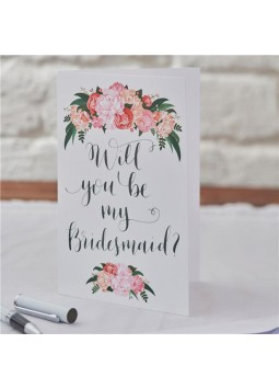 Boho Wedding 'Will You Be My Bridesmaid?' Cards