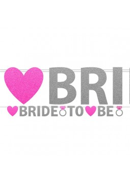 Hen Party Bride To Be Glitter Banner - 3.7m