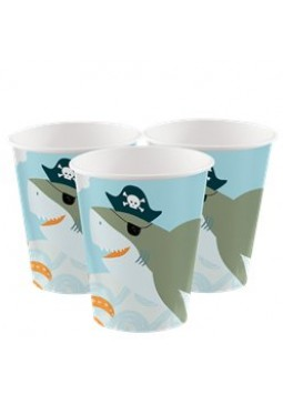 Ahoy Birthday Cups - 250ml Paper Party Cups (8pk)