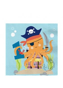 Ahoy Birthday 1st Birthday Napkins - 33cm (16pk)
