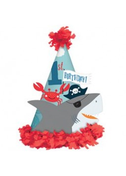 Ahoy Birthday 1st Birthday Cone Hat - 17cm (each)