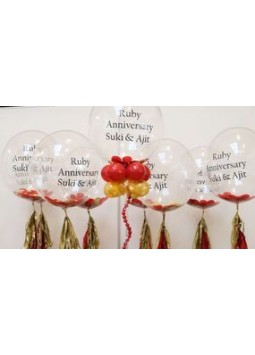 Clear Personlised Anniversary Balloon