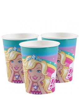 Barbie Dreamtopia Paper Cups - 250ml