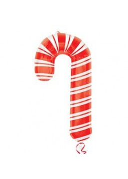 "Candy Cane SuperShape Balloon - 37"" Foil"