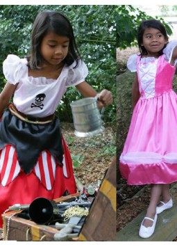2 in 1 Princess Pirate - Toddler and Child Costume