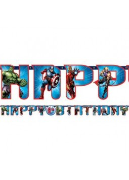 Avengers Banner - 3.2m Add An Age Letter