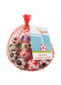 Net of Solid Chocolate Footballs - 50g