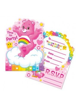 Care Bears Party Invitation Cards