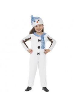 Snowman Toddler Costume, White