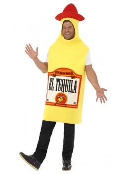 Tequila Bottle Costume, Yellow