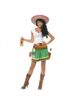 Tequila Shooter Girl Costume, Green