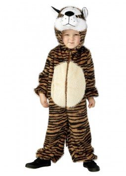 Tiger Costume, Brown, Small