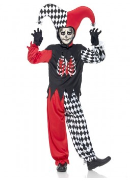 Blood Curdling Jester Costume, Black