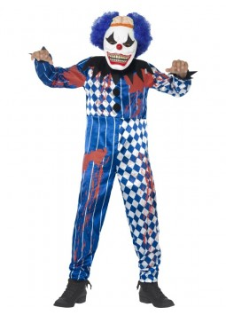 Deluxe Sinister Clown Costume, Blue