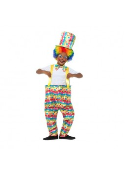 Boys Clown Costume, Multi-Coloured