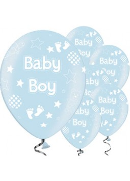 Icy Blue Baby Boy Balloons - 11'' Latex (Pack of 25)