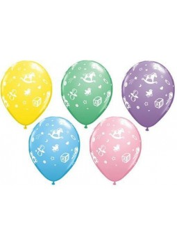 "Baby's Nursery Assorted Balloons - 11"" Latex (Pack of 25)"