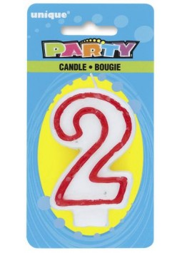 """2"" Deluxe Number Candle"