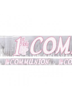 Communion Radiant Cross glitter fringed banner