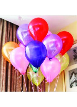 Colourful Helium Filled Latex Balloons