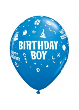 "Birthday Boy Balloons Assortment - 11"" Latex (6)"
