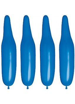 Plain Dark Blue Modelling Balloons - 321Q Latex (Pack of 100)