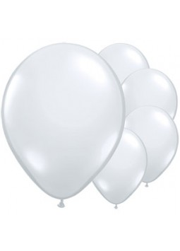 "Diamond Clear Balloons - 16"" Latex (Pack of 100)"