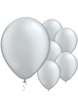 Silver Metallic Balloons - 11'' Latex (Pack of 25)