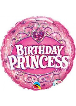 "Birthday Princess Pink Round Balloon - 18"" Foil"