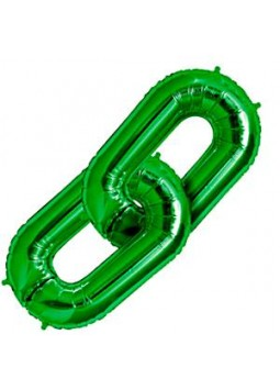 "Green Deco Link Balloon - 34"" Foil"