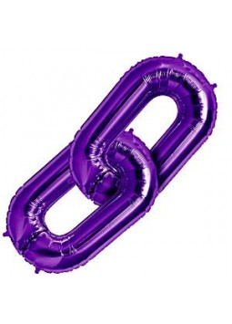 "Purple Deco Link Balloon - 34"" Foil"