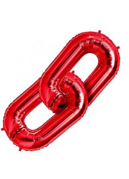 "Red Deco Link Balloon - 34"" Foil"