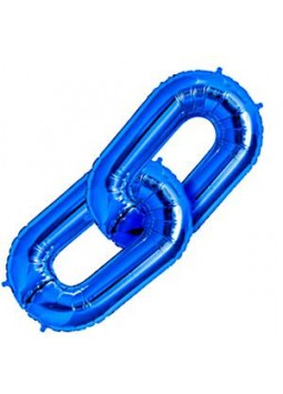 "Blue Deco Link Balloon - 34"" Foil"
