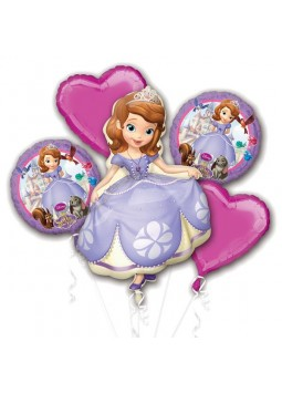 Sofia The First Balloon Bouquet - Assorted Foil