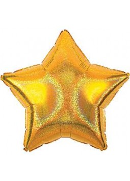 Gold Dazzler Star Balloon - 19'' Foil