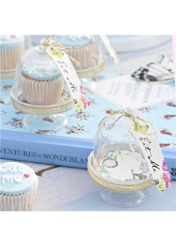 Truly Alice Cake Dome, Tag & Doily Set (6)