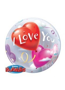 'I Love You' Valentines Bubble Balloon - 22""