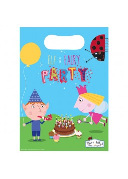 Ben & Holly Party Bags - Plastic Loot Bags (8)