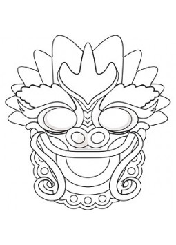 Chinese New Year Colouring Masks (Pack of 4)