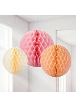 Sorbet Honeycomb Decorations (Pack of 3)