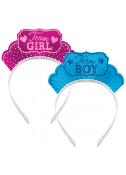 Gender Reveal Tiaras (Pack of 12)