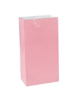 Baby Pink Paper Bags - 24cm (Pack of 12)