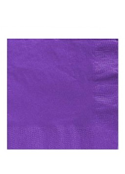Purple Luncheon Napkins - 33cm Square 2ply Paper (50)