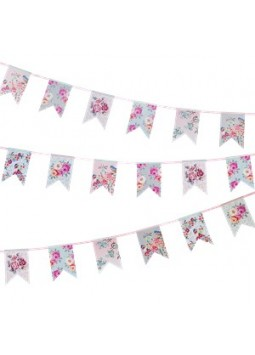 Truly Romantic Paper Bunting - 4m
