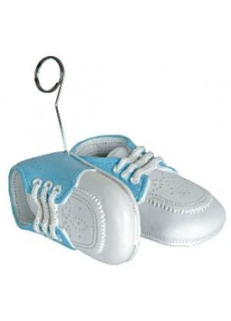 Light Blue Baby Shoes Balloon Weight