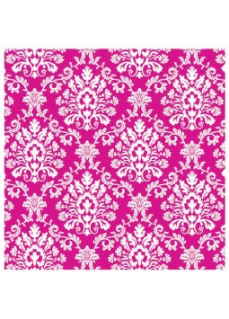Bright Pink Brocade Wrapping Paper