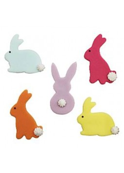 Bunny Rabbit Sugar Toppers - Cake Decorations (5)
