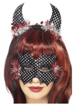 New Year Devildina Mask and Horns Set